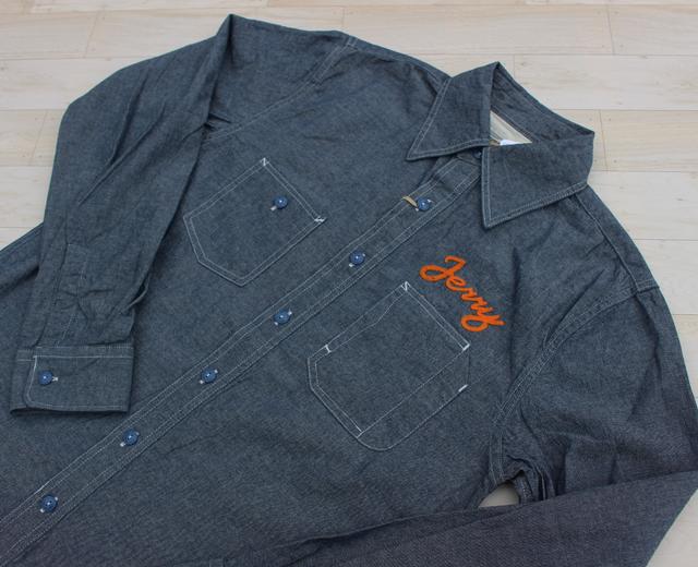 ヒューストン シャンブレー ワーク 刺繍