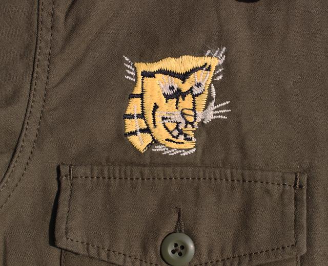 ヒューストン ミリタリー 軍モノ ベトナム 刺繍