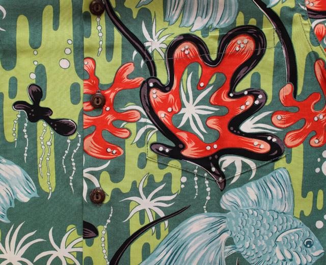 カラカウア アロハシャツ 金魚