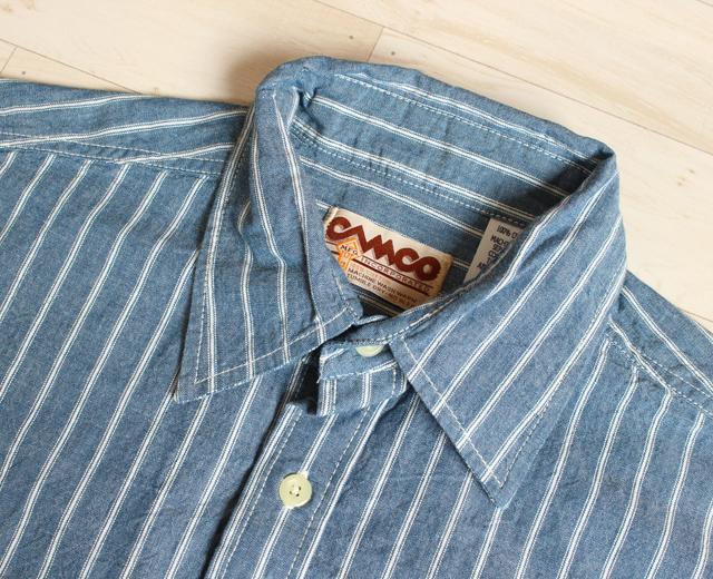 カムコ シャンブレーシャツ ストライプ