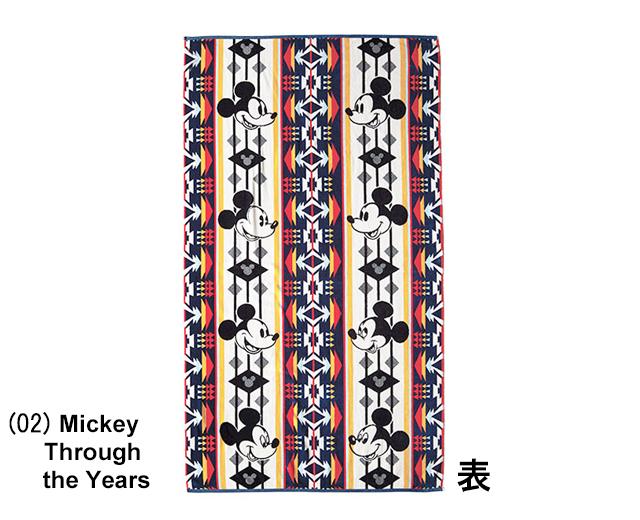 ミッキーマウス90周年ペンドルトンバスタオル