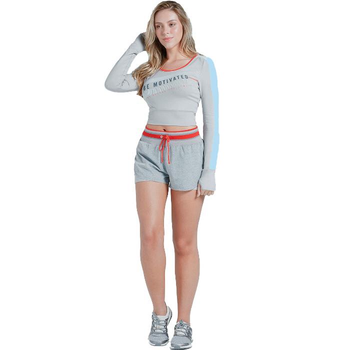 スポーツウェア Tシャツ ラッシュガード 長袖 × ショートパンツ セット
