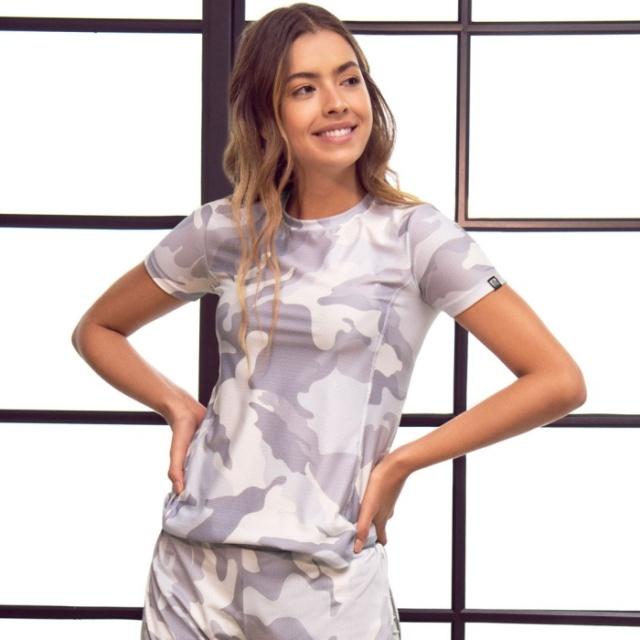 Tシャツ トップス フィッフィットネスウェア レディース ジョギング インポート ボタニカル柄 ヨガ 迷彩柄