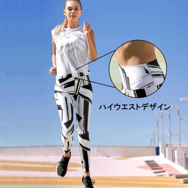 フィットネスウェア レギンス レディース ハイウエスト スポーツウェア 10分丈 ジムウェア ヨガウェア ランニング スパッツ