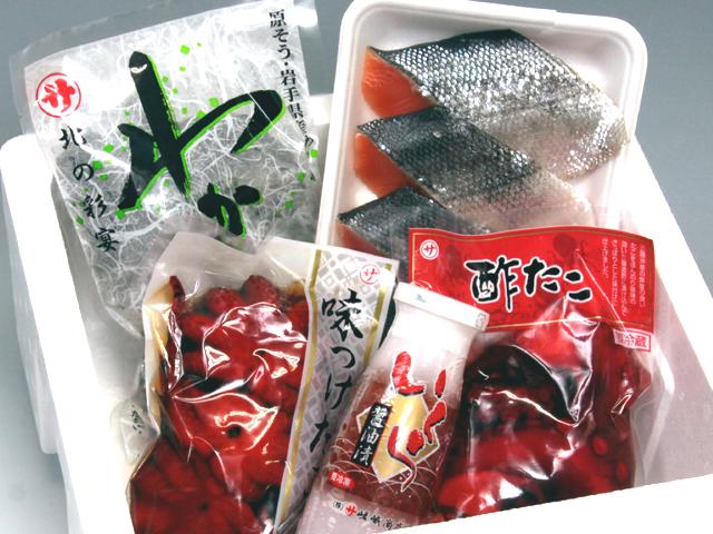 海産物 詰め合わせ いか たこ いくら 鮭 嵯峨商店 久慈 贈答