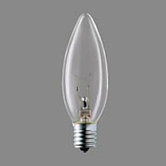 シャンデリア電球 LC110V15W・C/D