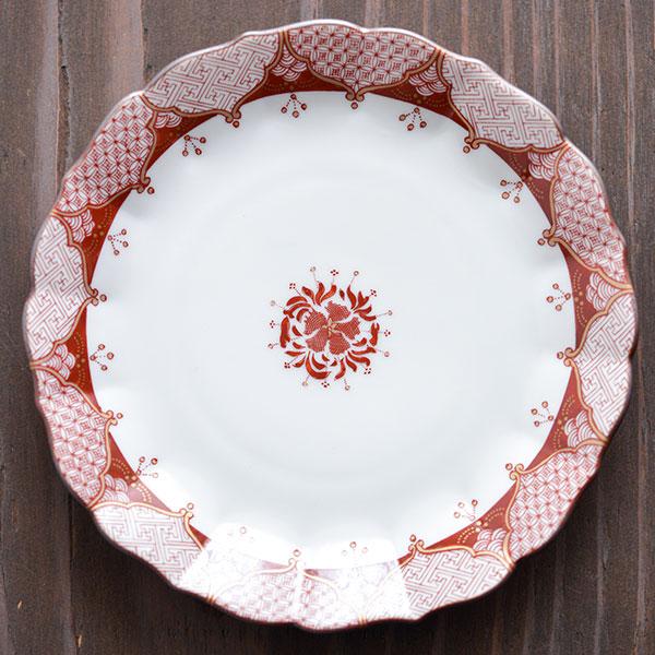 【九谷焼 】 皿揃 赤絵小紋 5.3号 ≪送料無料/売り切れました≫