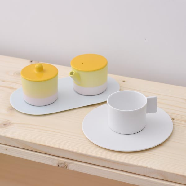 【有田焼 1616 / arita japan】 S&B Coffee Sugar Milk White-Yellow set ≪送料無料/3営業日で出荷≫