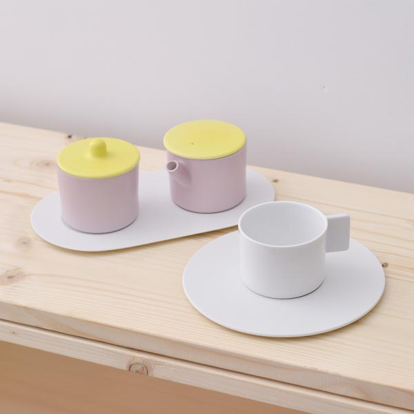 【有田焼 1616 / arita japan】 S&B Coffee Sugar Milk White-Pink set ≪送料無料/3営業日で出荷≫