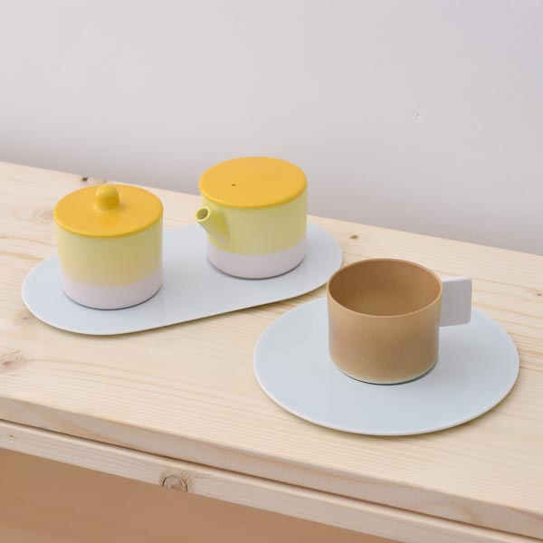 【有田焼 1616 / arita japan】 S&B Coffee Sugar Milk Brown-Yellow set ≪送料無料/3営業日で出荷≫