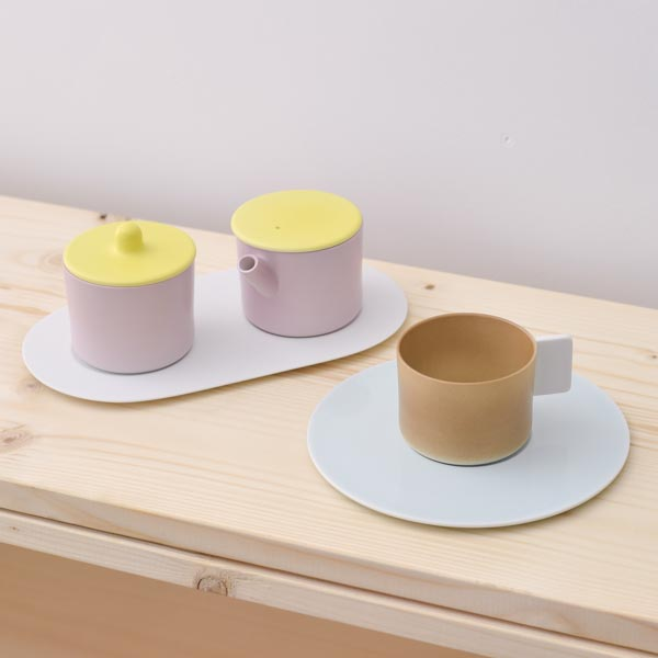 【有田焼 1616 / arita japan】 S&B Coffee Sugar Milk Brown-Pink set ≪送料無料/3営業日で出荷≫
