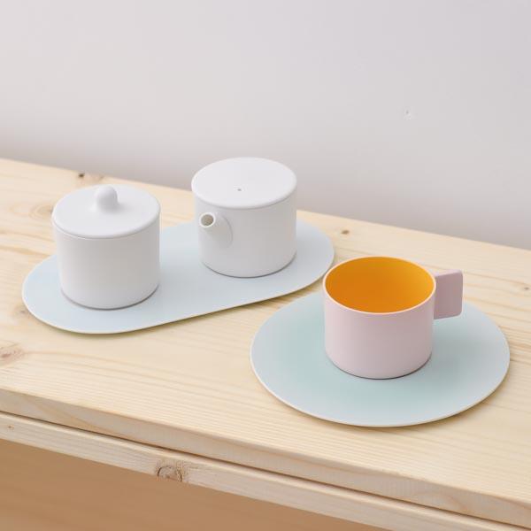 【有田焼 1616 / arita japan】 S&B Coffee Sugar Milk Pink-White set ≪送料無料/3営業日で出荷≫