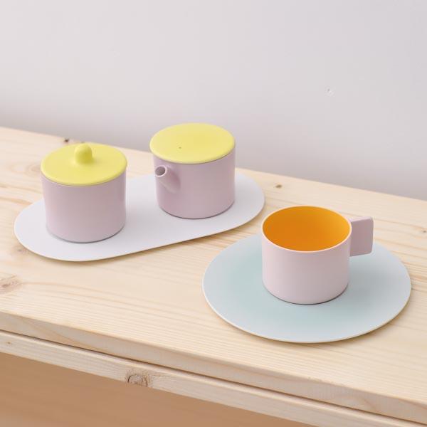 【有田焼 1616 / arita japan】 S&B Coffee Sugar Milk Pink-Pink set ≪送料無料/3営業日で出荷≫