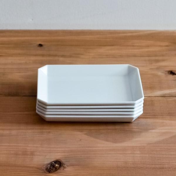 【有田焼 1616 / arita japan】 TY Square Plate White 130mm 5set ≪13時まで即日出荷≫