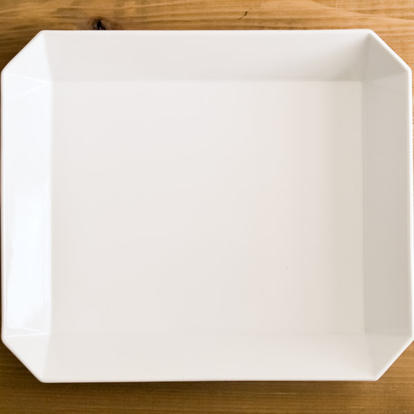 【有田焼 1616 / arita japan】 TY Square Bowl White 255mm ≪13時まで即日出荷≫