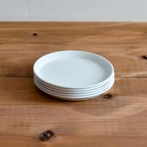 【有田焼 1616 / arita japan】 TY Round Plate White 120mm 5set ≪13時まで即日出荷≫