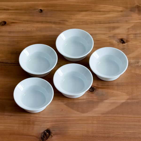 【有田焼 1616 / arita japan】 TY Round Deep Plate Plain White 120mm 5set ≪13時まで即日出荷≫