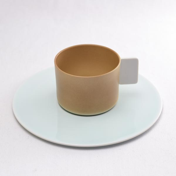 【有田焼 1616 / arita japan】 S&B Coffee Cup & saucer Light Brown 1個 ≪13時まで即日出荷≫
