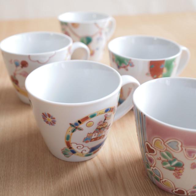 【九谷焼 】 選べる5種類のマグカップ ≪1営業日で出荷≫