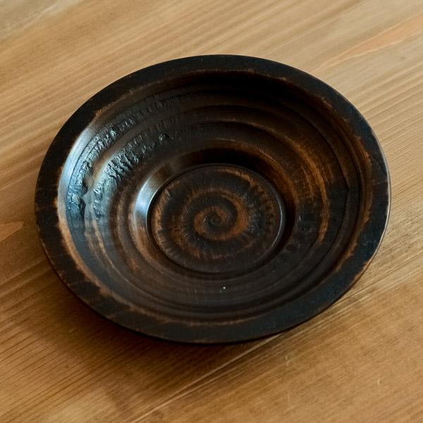 【山中漆器 】 茶托 象谷 拭漆 135mm 5枚 ≪送料無料/1営業日で出荷≫