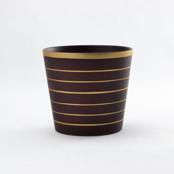 【送料無料】しっとりカップ ブラウン S≪1~3営業日で出荷≫ ( グラス セット タンブラー 山中漆器 )
