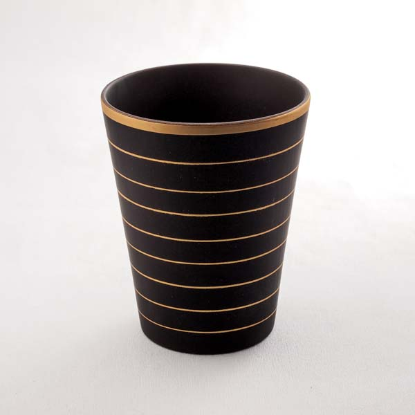 【山中漆器 】 しっとりカップ ブラウン L ≪1~3営業日で出荷≫