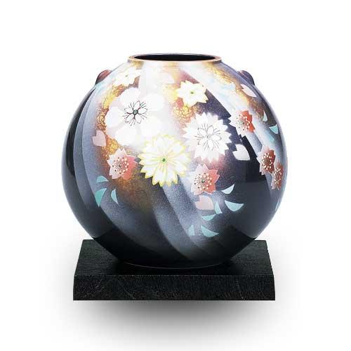 【九谷焼 】 花瓶 陽光花の舞 7号 ≪送料無料/1~3営業日で出荷≫