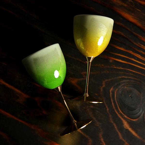 【送料無料】ワインカップ 銀彩 ペア≪13時までのご注文即日発送(土日祝日を除く)≫ ( ワイングラス ワインカップ 日本酒グラス 冷酒グラス 陶器 九谷焼 )