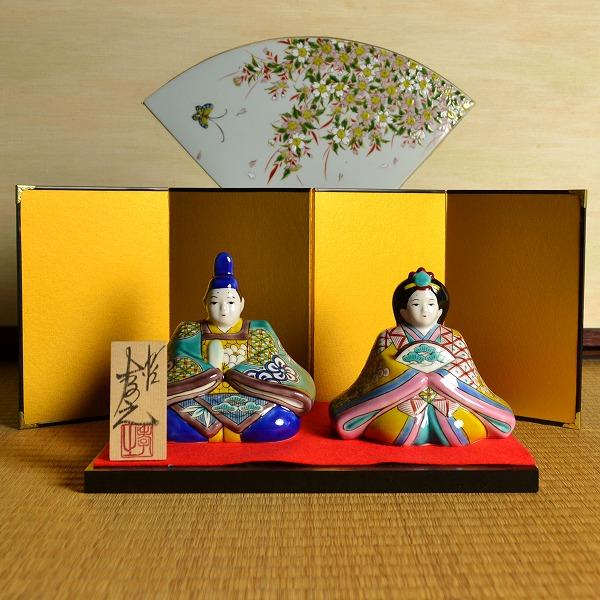 【九谷焼 】 雛人形 色絵松竹梅 5号 ≪送料無料/1~3営業日で出荷≫
