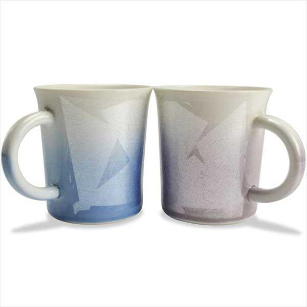 【九谷焼 】 ぺアマグカップ 銀彩 ≪送料無料/1~3営業日で出荷≫