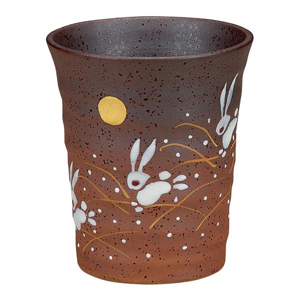 フリーカップ はねうさぎ / 焼酎グラス ビアカップ ビールグラス 九谷焼  ≪!メーカー直送品!通常即日発送≫