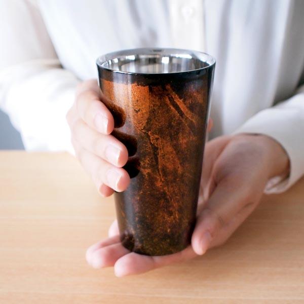【山中漆器 漆磨漆流し】 シングルカップ 選べる2色 赤 黒 S 1個  ≪送料無料/1営業日で出荷≫