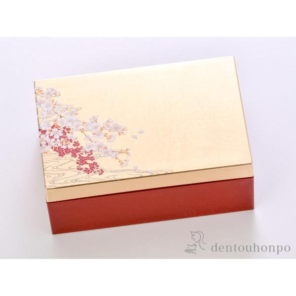 桜に流水 箔アクセサリーBOX 小≪!メーカー直送品!通常1~3営業日で出荷≫ ( 箔一 アクセサリー入れ 収納ボックス ケース BOX 宝物 金沢金箔 )