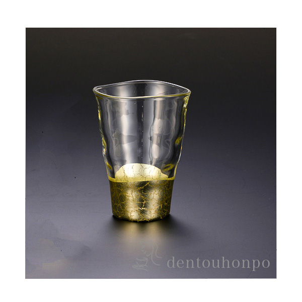 【送料無料】貫入 一口グラス シャンパンゴールド 1個≪!メーカー直送品!通常1~3営業日で出荷≫ ( 箔一 父の日ギフト 母の日 父の日プレゼント 初任給 プレゼント 定年 退職祝い 男性 女性 焼酎グラス ビアカップ ビールグラス フリーカップ グラス 金沢金箔 )