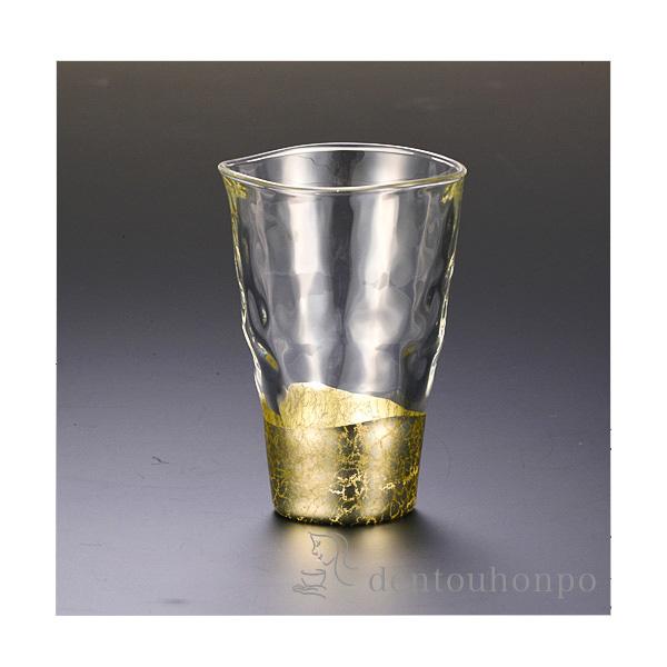 貫入 タンブラー シャンパンゴールド 1個≪!メーカー直送品!通常1~3営業日で出荷≫ ( 箔一 退職祝い 焼酎グラス ビアカップ ビールグラス フリーカップ グラス 金沢金箔 )