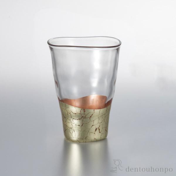 【送料無料】貫入さくら タンブラーグラス 1個≪1~3営業日で出荷≫ ( 箔一 父の日 ギフト 早割り 初任給 プレゼント 祖父母 焼酎グラス ビアカップ ビールグラス フリーカップ グラス 金沢金箔 )