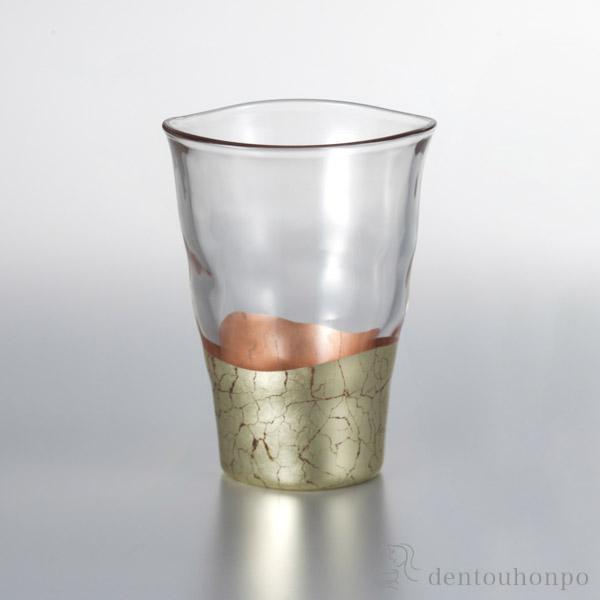 【送料無料】貫入さくら 一口グラス 1個≪1~3営業日で出荷≫ ( 箔一 父の日 ギフト 早割り 初任給 プレゼント 祖父母 焼酎グラス ビアカップ ビールグラス フリーカップ グラス 金沢金箔 )