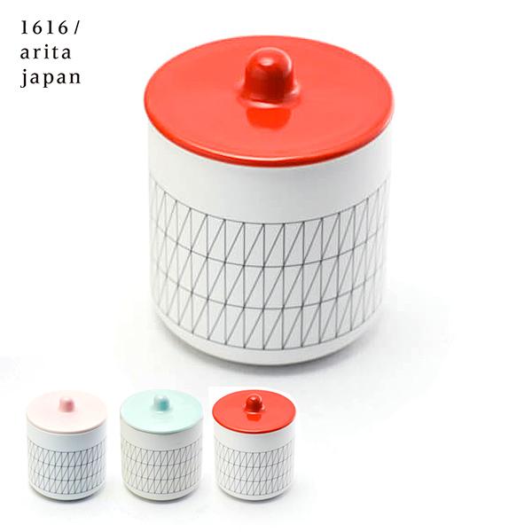 【有田焼 1616 / arita japan】 container red/blue/light pink ≪3営業日で出荷≫