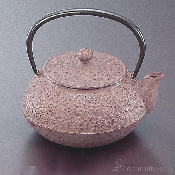 急須 桜 5型 茶こし付≪1週間程で出荷≫ ( 南部鉄器 )