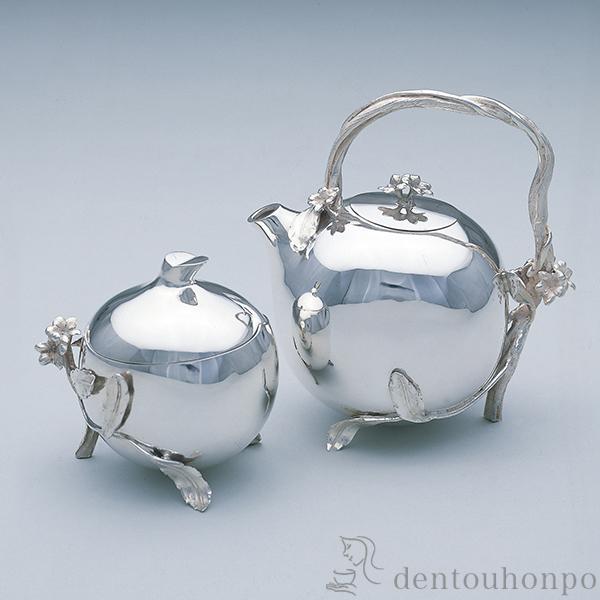 【送料無料】銀製 洋茶器セット つた≪!取り寄せ商品!通常2週間程で出荷≫ ( 高級 コレクション 美術品 工芸品 伝統 東京銀器(銀工芸) )