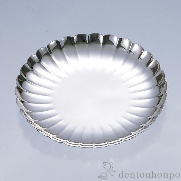 【送料無料】銀製 菊皿 F 4.5号≪!取り寄せ商品!通常1ヶ月程で出荷≫ ( セット おつまみ 料理 和食 洋食 東京銀器(金銀工芸) )