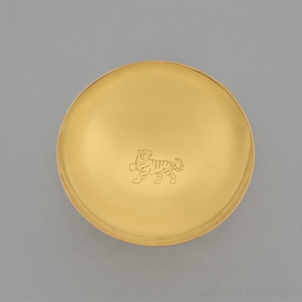 【送料無料】純金製 玉杯 「寅」 K24 65g≪2週間程で出荷≫ ( 子 辰 龍 午 丑 東京銀器(金工芸) )