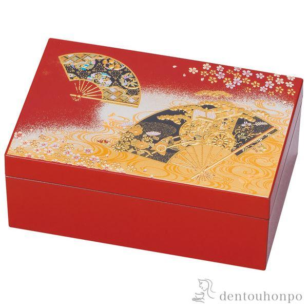 プチアクセサリーBOX 京雅≪!メーカー直送品!通常1~3営業日で出荷≫ ( 名入れ可 アクセサリー入れ 収納ボックス ケース BOX 宝物 山中漆器 )