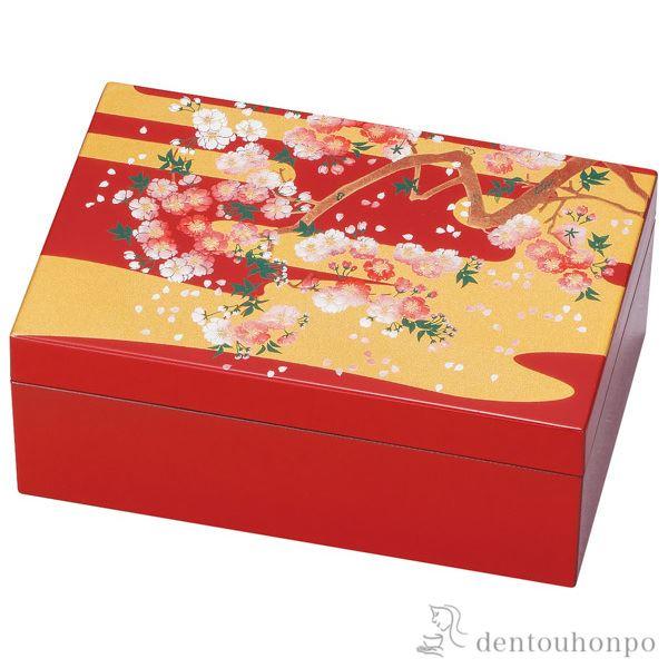 プチアクセサリーBOX 雅桜≪!メーカー直送品!通常1~3営業日で出荷≫ ( 名入れ可 アクセサリー入れ 収納ボックス ケース BOX 宝物 山中漆器 )