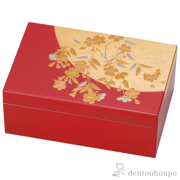 プチアクセサリーBOX さくら≪!メーカー直送品!通常1~3営業日で出荷≫ ( 名入れ可 アクセサリー入れ 収納ボックス ケース BOX 宝物 山中漆器 )