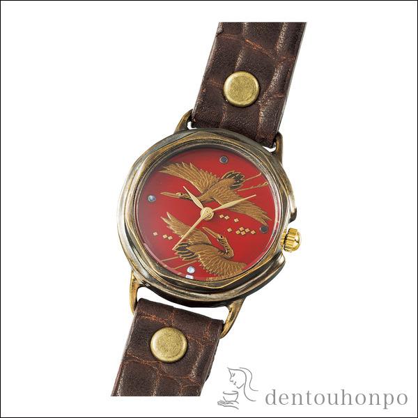 【送料無料】Lady's 腕時計 双鶴≪1~3営業日で出荷≫ ( レディース 腕時計 とけい ベルト 蒔絵 山中漆器 )