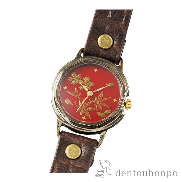 【送料無料】Lady's 腕時計 春秋≪1~3営業日で出荷≫ ( レディース 腕時計 とけい ベルト 蒔絵 山中漆器 )