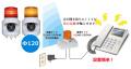 電話着信表示灯 ニコフォン VL04S-100PH型 VL04S-100PHM 無線タイプ 大音量回転灯 1組セット 送料無料