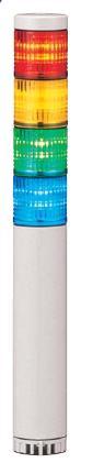 パトライト(PATLITE) LED小型積層信号灯 LCE-4M2AFBW 4段 点灯/点滅/ブザー AC90~250V 40Ф 直取付け 赤・黄・緑・青 送料無料