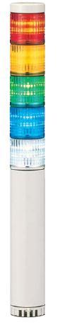パトライト(PATLITE) LED小型積層信号灯 LCE-5M2AFBW 5段 点灯/点滅/ブザー AC90~250V 40Ф 直取付け 赤・黄・緑・青・白 送料無料